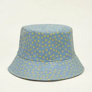 New Blue Flowered Hat